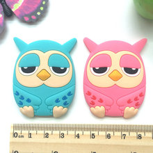 1PCS Creative Owl Fridge Magnets Silicone Gel for Kids Gift Home Decor Animal