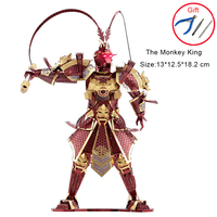 3D Metal Puzzles Model The Monkey King Adult Kids DIY Kits Laser Cut Assembly Jigsaw Educational Toys Collection Christmas Gifts