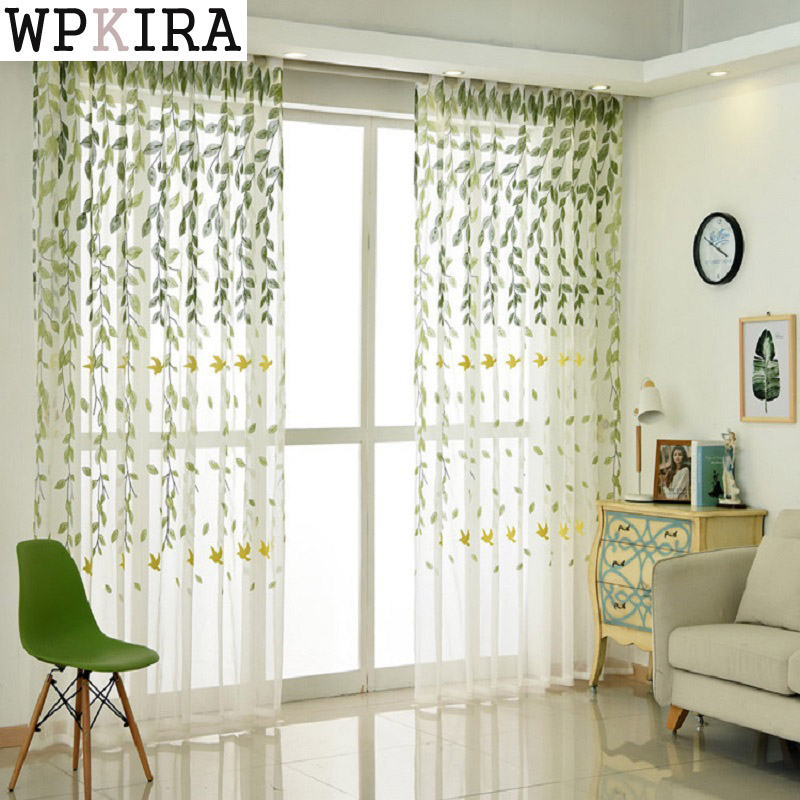 Kitchen Tulle Curtains Translucidus Modern Home Window Decoration White  Orange Red Sheer Voile Curtains Living Room