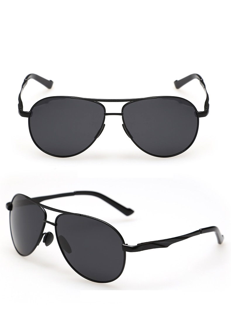 9dc0e62d2a Cubojue Aviation Black Men s Sunglasses Polarized Driving Gold Brown ...