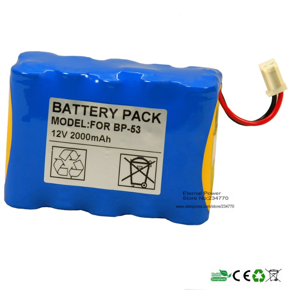 Infusion Pump battery Replacement For TOP BP-53,TOP-5300,TOP-3300,TOP-2200 High Quality Syringe Pump battery 100%NEW,1year
