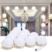 Buy makeup mirror light bulbs and get free shipping on aliexpress abody makeup mirror vanity led dimmable bulbs kit with dimmer power supply plug aloadofball Choice Image