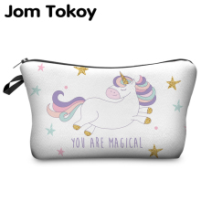 Printing Cosmetic Bag Unicorn Multicolor Pattern Cute cosmetic organizer bag For Travel Ladies Pouch Women Makeup
