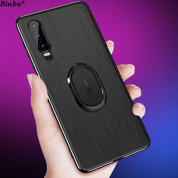 Binbo For Huawei P30 Pro Case Cover P30 Car Magnetic Stand TPU + PC Back Cover For Huawei P30 Pro P30Pro P 30 Case Coque Capa lukmall iphone case