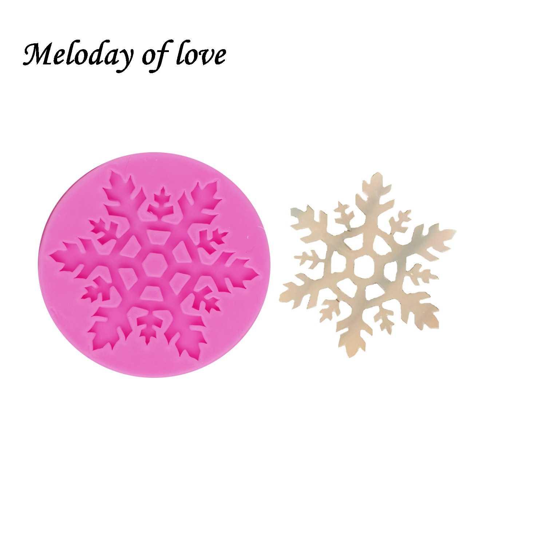 ندفة الثلج عيد الميلاد كعكة تزيين أدوات قالب من السيليكون فندان العفن البوليمر الطين الحلوى الشوكولاته قوالب Sugarcraft T1304