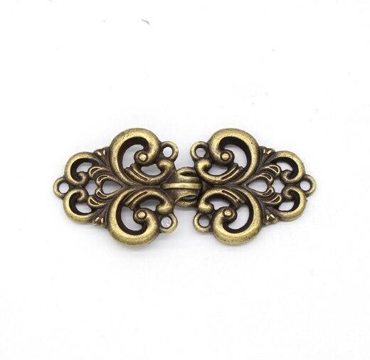 Tang pak Hanfu cheongsam haak jas trui shawl shirt kraag pin broche eendenbek metalen clip gouden gesp
