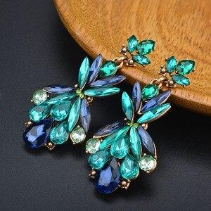 New Trendy Elegant Zircon Leaf Crystal Water Drop Earrings For Women Luxury Angel Wedding Dangle Earrings Jewelry Gifts Brincos