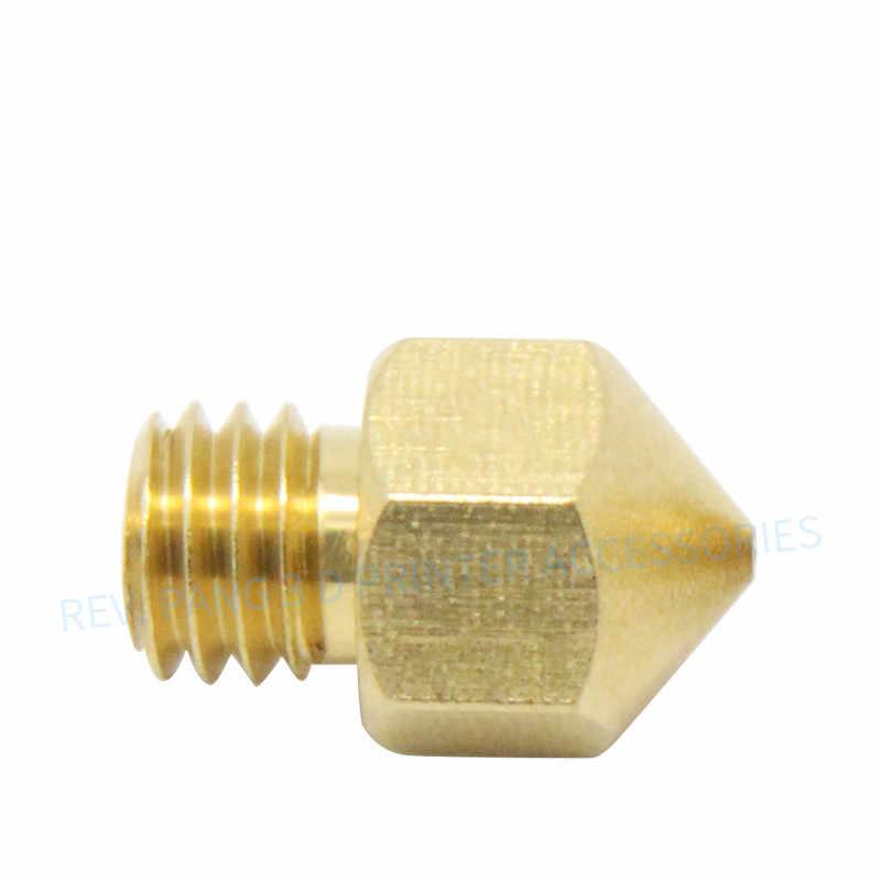 1 PC 0.2 Mm/0.3 Mm/0.4 Mm/0.5 Mm Tembaga MK8 Nozel untuk DIY 3D Printer pengganti Cetak Kepala Extruder Nozzle untuk 1.75 Mm Filamen