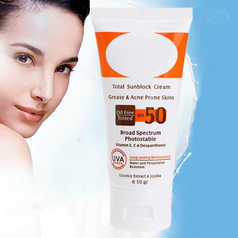50 мл солнцезащитный крем SPF 50 + увлажнение кожи защиты крем для загара Уход за кожей лица Уход за кожей удалить pigmention пятна