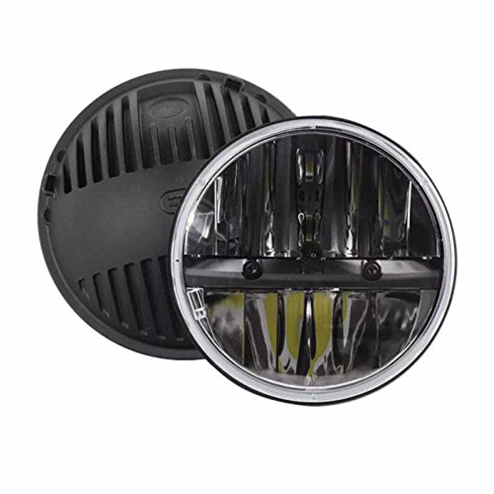 7 Inch Round LED Headlights High/Low Beam For Jeep Wrangler CJ JK TJ 97-2016 Motorcycle Offroad Vehicles - Pair 2pcs 7 inch round led headlights angle eyes headlamp head light for jeep wrangler jk tj cj 8 scrambler high low beam