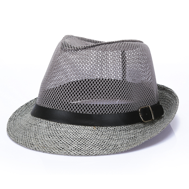 2019 Men's Summer Beach Hat Linen Breathable Mens Straw Hat Mens Fedora Hat Fedora Male Panama Hats Men Caps