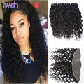 Peruvian Water Wave With Frontal 7A Peruvian Virgin Hair Water Wave With Frontal 4 Bundles Wet And Wavy Human Hair With Frontal