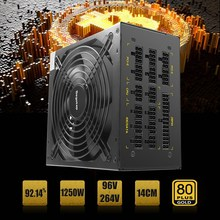80 Plus Efficiency 1250W Modular PC Power Supply 12V 24PIN 8PIN For Miner Mining New ATX Power For Computer PC Supply 6GPU