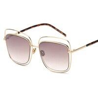 mimiyou Square Hollow Wire Glasses Eyewear New Vintage Retro Fashion Sunglasses Unisex Women Men UV400 oculos de sol feminino