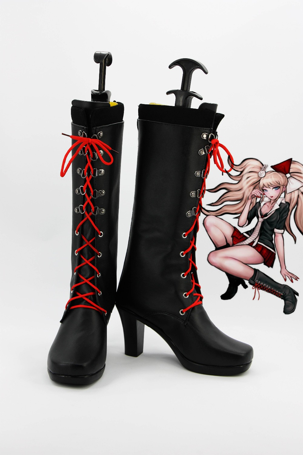 Anime Danganronpa 2 Enoshima Junko Cosplay Boots Lace Up High Heel Shoes New
