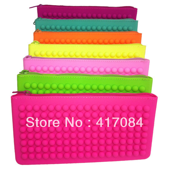 18*9cm free shipping new candy-colored women silicone purse wholesale coin holder Handbag storage wallet  Wholesale 200pcs/lot