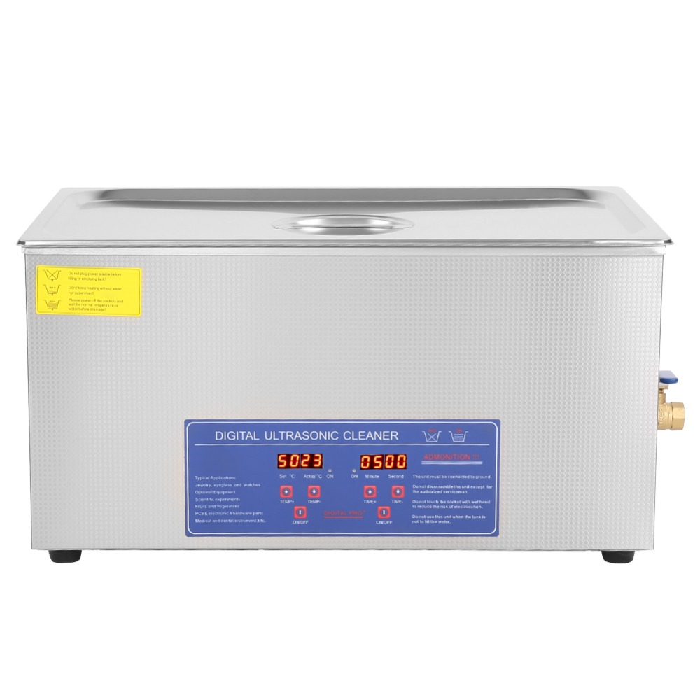 Industrial Ultrasonic Cleaner Bath Power Time Heat Adjustment Motherboard Car Parts Oil Rust Degreasing Injector Ultrasound
