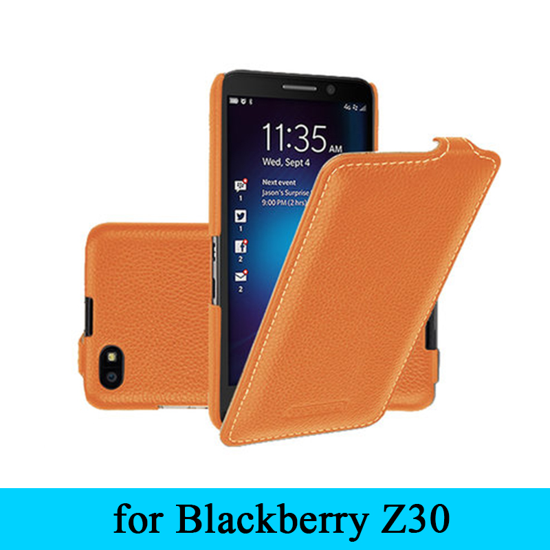 2017 New Luxury Cowhide Protective Phone Skin for Black Berry Z30 Case Genuine Leather Case Cover