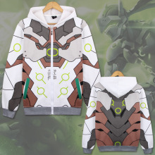 La MaxPa 2018 OW Shimada Genji Sweatshirts Cosplay Costume Casual cartoon game