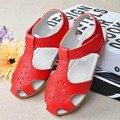 2017 de lujo del cuero genuino niñas verano recortes sandalias shoes infant toddler girls summer niña sandalias de cuero sandalias