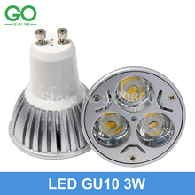 3W GU10 LED Spotlights 45mil 130-140lm/w Dimmable/Non-dimmable Spot Light Equal 30W Halogen Lamp GU 10 LED downlight