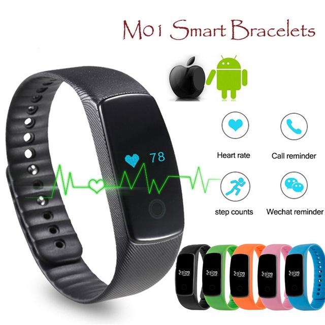 Teamyo M01 Passomete Pulsómetro Pulsera Smartband Gimnasia Salud Pulsera Inteligente Bluetooth Reloj para Android iOS