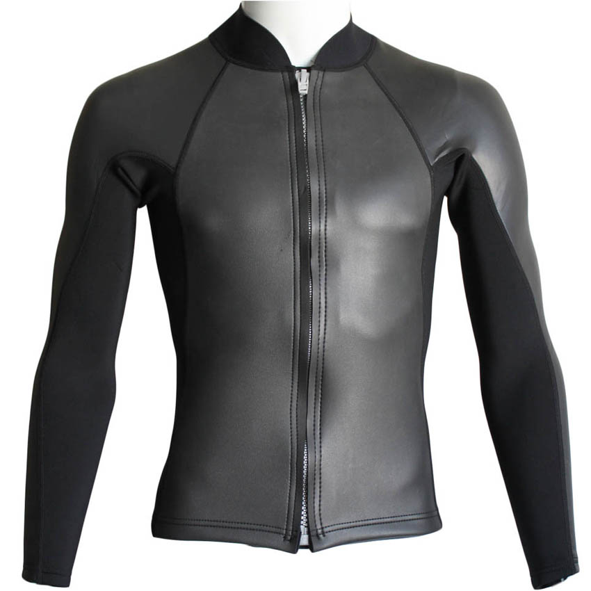 2mm Neoprene Wetsuit Jacket for Men Diving Snorkeling Dragon Swimming High Elastic Spearfishing Kite Surf Windsurf Surfing Scuba sbart 3mm neoprene wetsuit men top long sleeve neoprene surf rash guard jacket for diving surfing swimming clothe keep warm n734