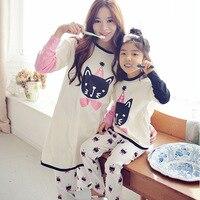 Famli 1pc Matching Family Pajamas Mother Daughter Christmas Pyjama Set Tshirt Pant Mommy Me Fashion Cotton