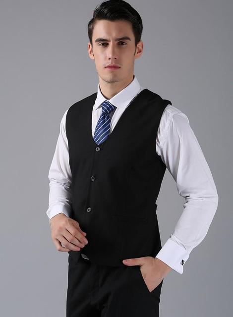 Alta Qualidade Preto Mens Coletes Groomsmens/Best Man Colete Custom Made Formal Colete Casamento/Baile/Jantar Colete Colete de negócios