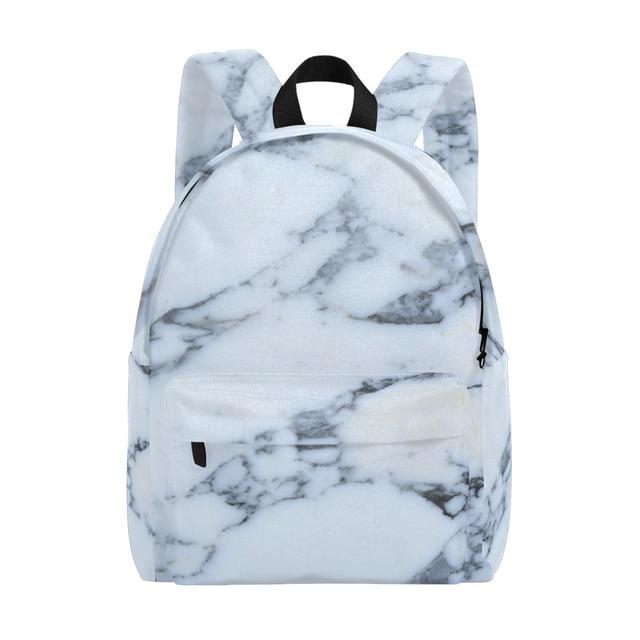 dbe0a591f36 Men Canvas Backpack Marble Texture Women Bags Book Bag Men Backpack Travel  Daypack School Children Learning Bag 14Inch Laptopbag
