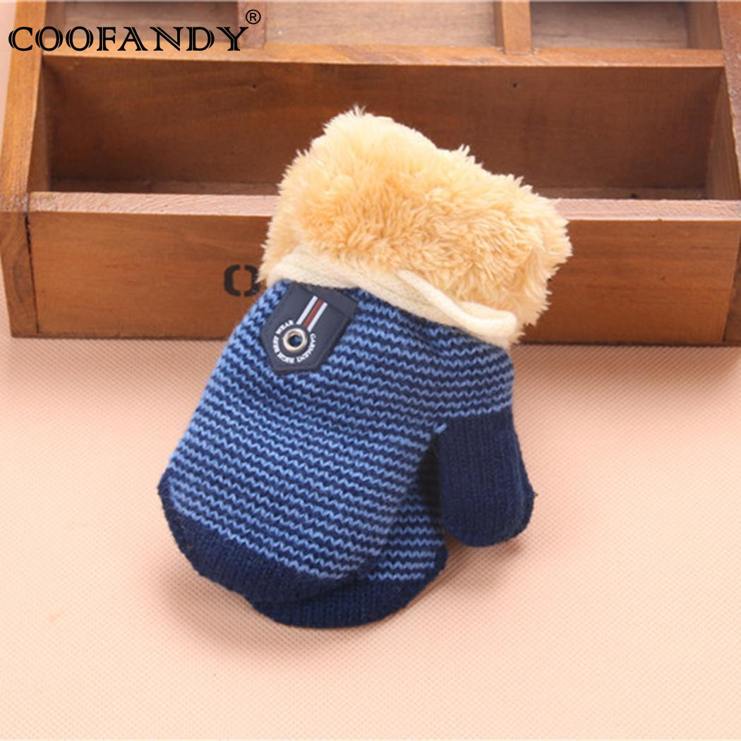 Haling Halter Gloves Faux Fur Patchwork Kids Hands Gloves Winter Accessories