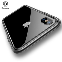 Baseus Phone Case For IPhone X Shockproof Bumper Cover Case For IPhone 10 Hard PC Coque