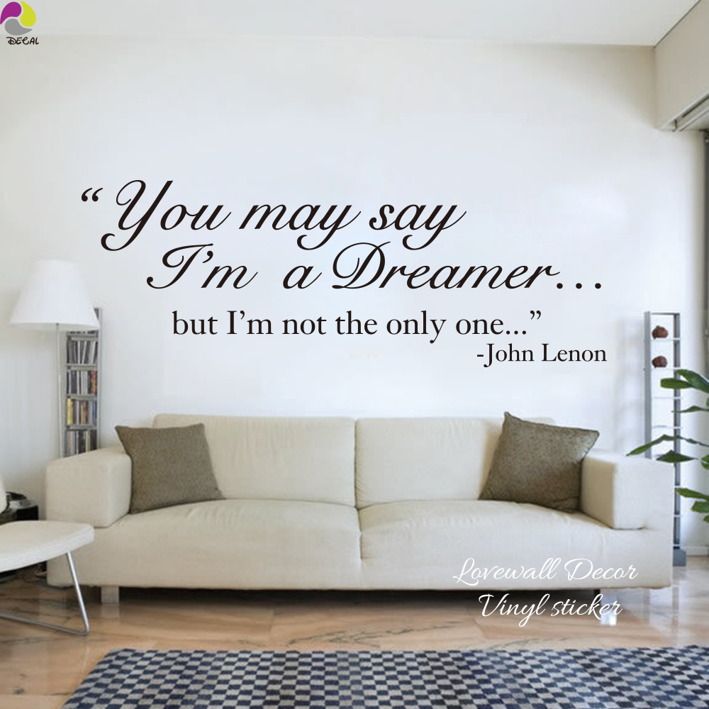 The Beatles Song Lyrics Wall Sticker Living Room John Lennon Dreamer Inspiration Decal