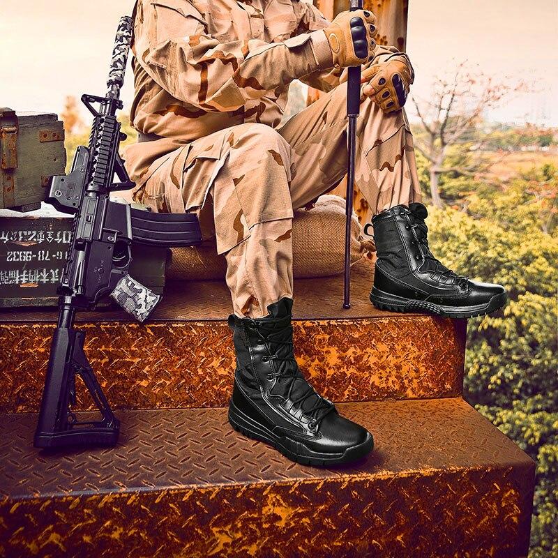 Men Desert Military Tactical Boots Outdoor High top Hiking Climbing Boots Professional Sports Trekking Shoes Big