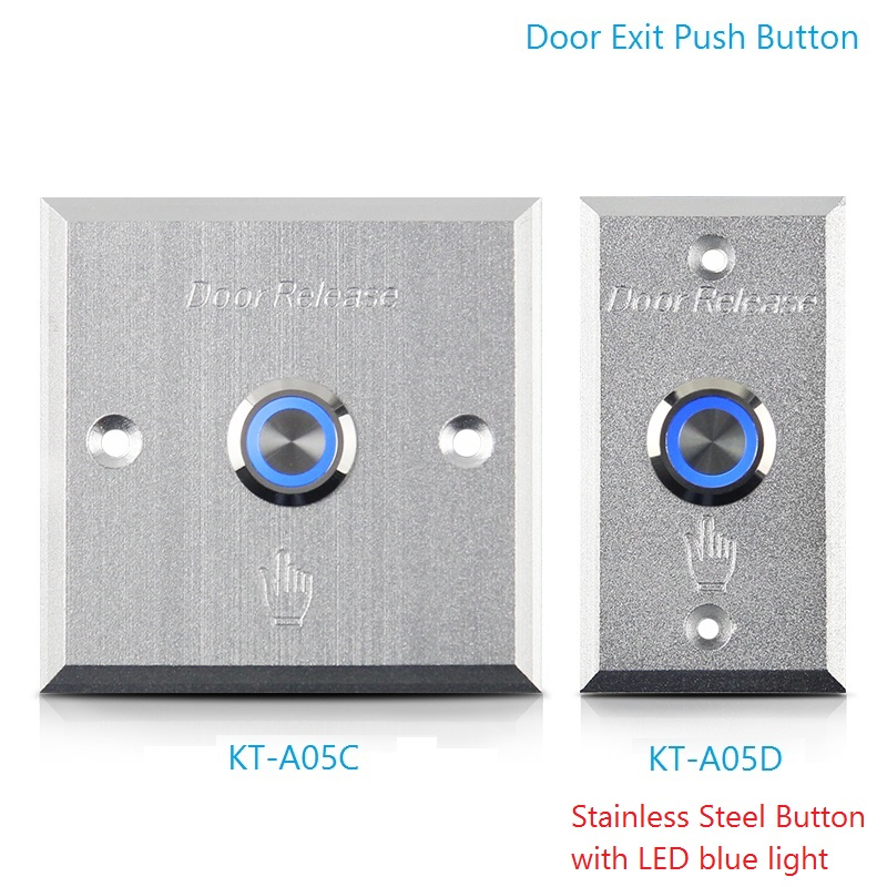 Door Exit Push Button With LED Light Stainless Steel Sealed Contact Button Aluminum Alloy Panel Access Control Release Switch 10pcs a lot door access control exit button door release exit switch good quality zinc alloy push release button with led light