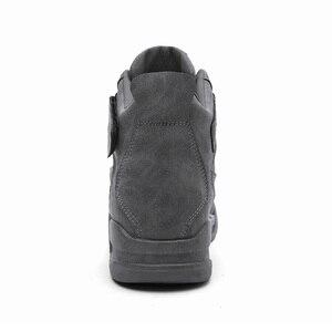 Image 3 - חדש ילד של ספורט מזדמן ריצה ללבוש נעלי תחרה עד נוח נעל רך קל משקל בלעדי רטרו עור גברים אופנה מגמה חורף