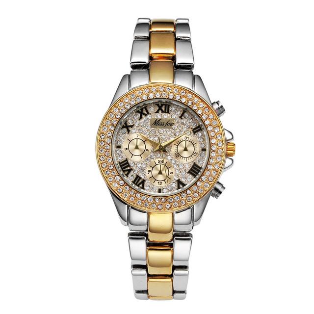 2017 Luxury Fashion women Watches Quartz Steel Waterproof Diver Reginald Top Brand Gold Wrist Watches  relogio feminino