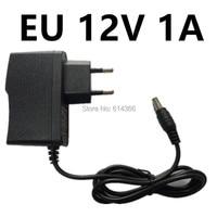 100PCS New AU UK EU US Plug 12W 1A 12V Power Adapter 12V 1A 1000mA Power