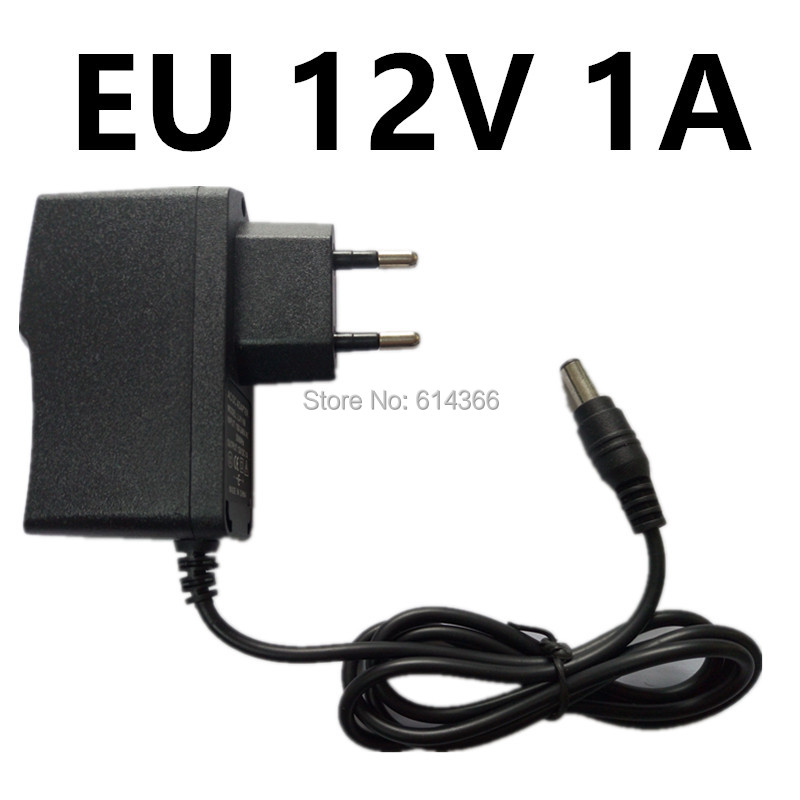 100PCS New AU UK EU US Plug 12W 1A 12V power Adapter 12V 1A 1000mA Power Adapter 12V 100-240V 100pcs us eu uk au plug ac line 1 5m dc line 1 2m ac100 240v to dc 24v 1a 24w power adapter 24v1a ac adapter