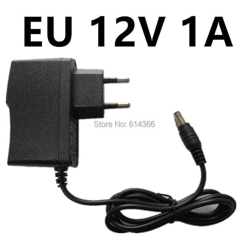 100PCS New AU UK EU US Plug 12W 1A 12V power Adapter 12V 1A 1000mA Power Adapter 12V 100-240V 25w 5v 5a 4 port usb power adapter w uk eu us au plug black 100 240v