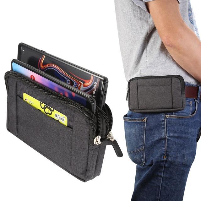 Phone Pouch For xiaomi redmi note 5 pro mi max 3 mi8 a2 PocoPhone F1 redmi 6X 6 5 4x Belt Clip Cowboy Cloth Casual Waist Bags 1