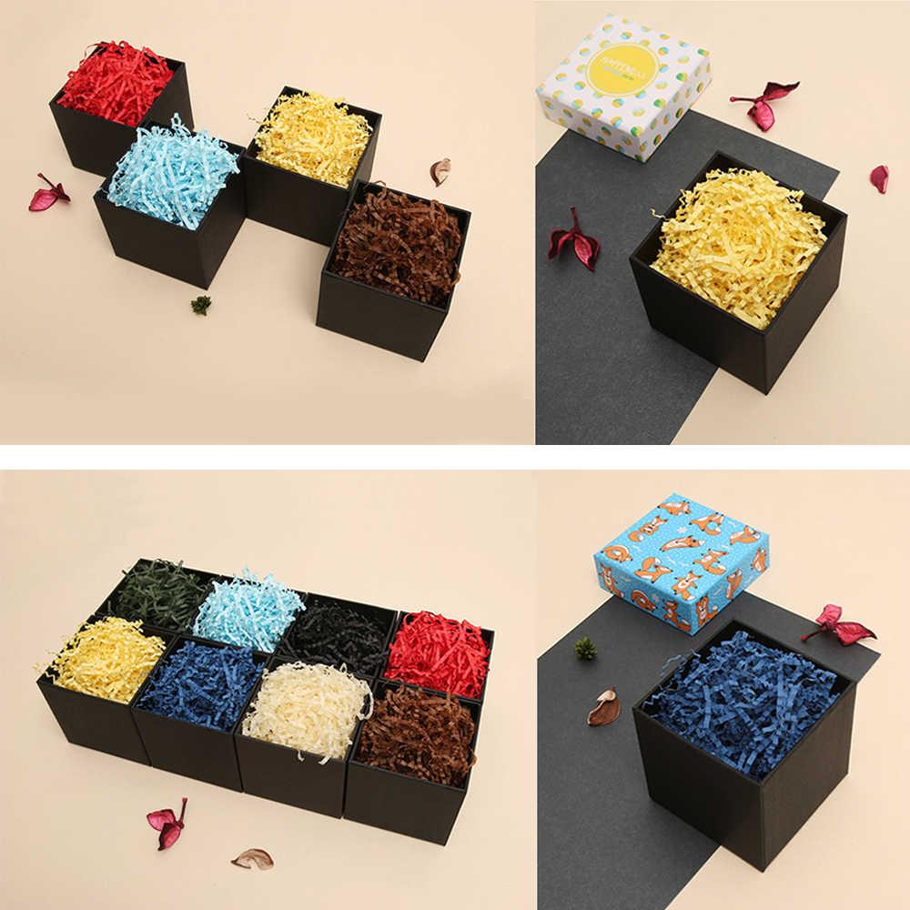 1000g marszczone cięcia papieru Shred wypełniacz do pakowania prezentów kosz zgłoszenia do pakowania Craft pościel do pakowania biżuterii wyświetlacz akcesoria