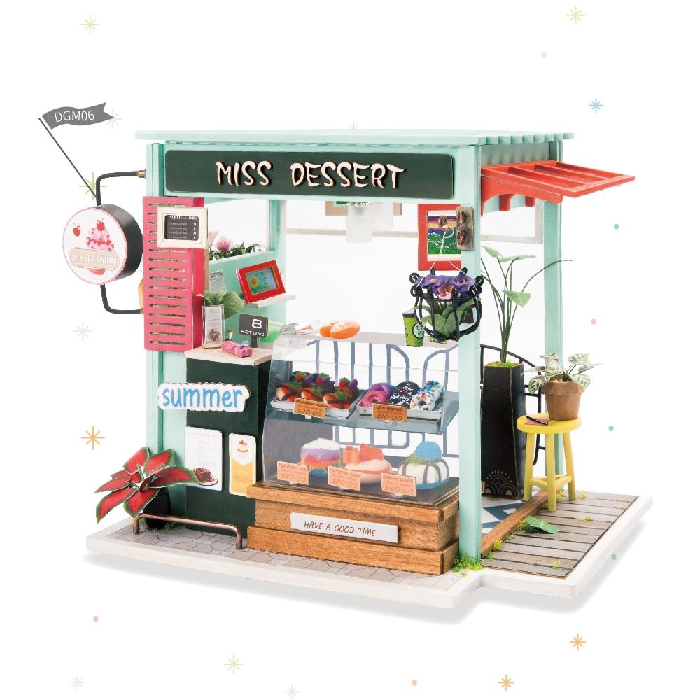 Robotime DIY Crème Glacée Station avec Meubles Enfants Adulte ... 83b6d8b1c5a2
