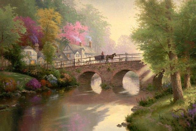 Asiatische Bilder Auf Leinwand kinkade poster kiefer cove haus dekorative bilder asiatische