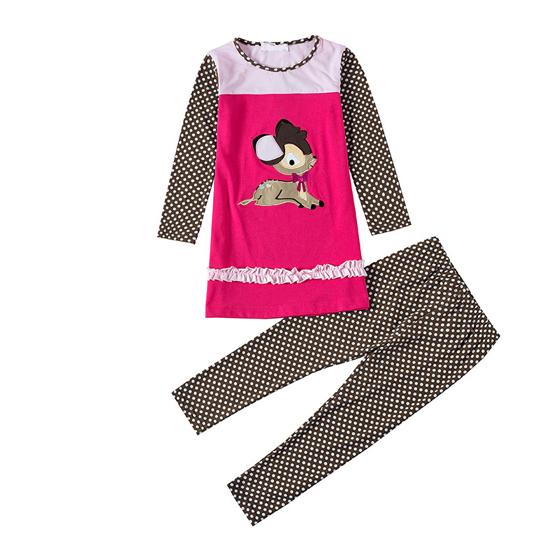 Kids Tales SKW 076 Baby Girl Clothes Children Kids Girl Long Sleeves T Sets Casual Design
