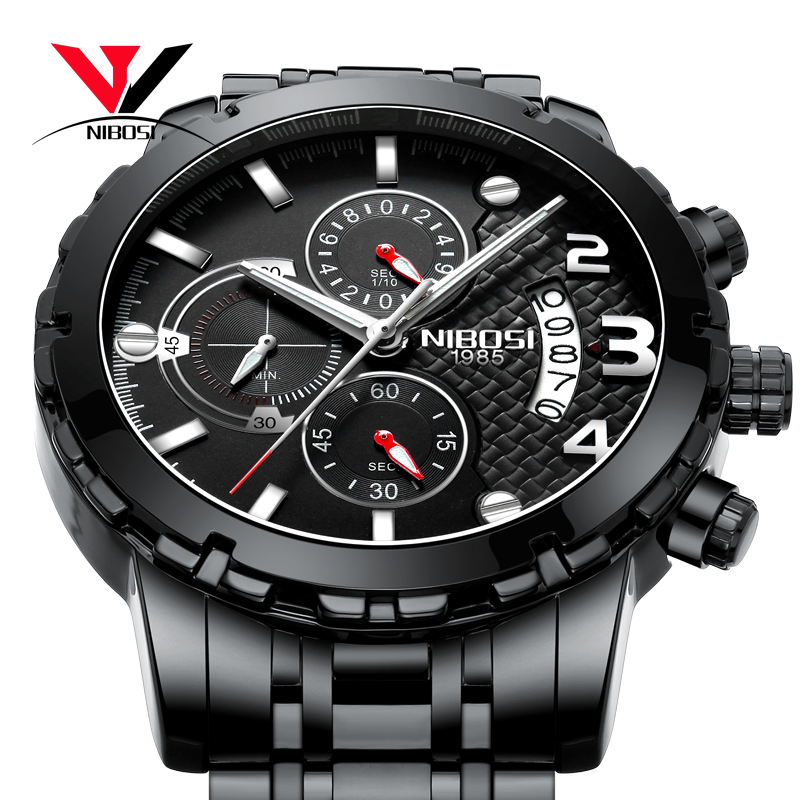 цена на NIBOSI Sport/Military Watches For Men Watch Top Brand Luxury Chronograph Analog Watch Outdoor Waterproof Army Male Clock Relogio