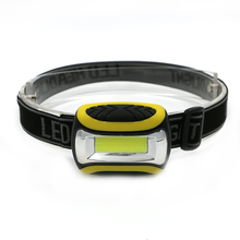 Waterproof Mini LED COB Headlight Lamp Fishing Outdoor Camping Riding Light PVC Yellow Headlamp Torch Head