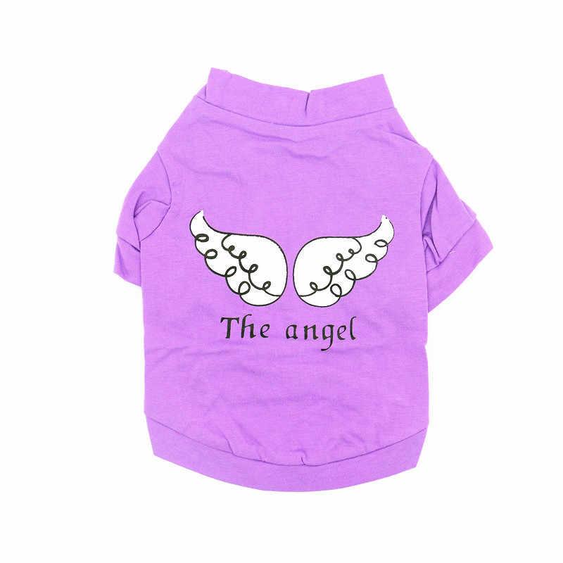 Estate Casual Dog T Shirt Ala di Angelo di Stile Pet Maglia Del Cane T Shirt Abbigliamento Abbigliamento per Gli Animali Domestici Gattino di Peluche