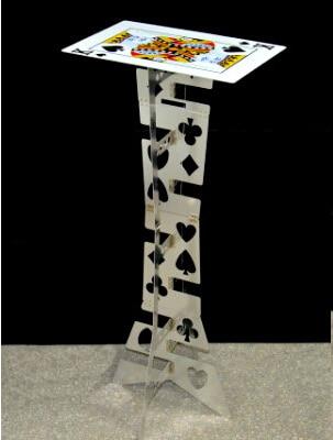 알루미늄 합금 매직 접이식 테이블 (실버, 포커 탑) 매직 트릭 마술사의 최고의 테이블 무대 환상 액세서리 특수 효과-에서요술 속임수부터 완구 & 취미 의  그룹 1