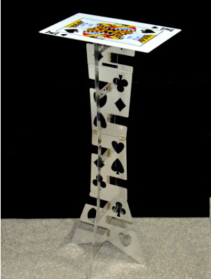 Magic Folding Table (Alloy)- Silver color(poker table) Magician's best table,magic trick,stage magic,illusions,Accessories alluminum alloy magic folding table red poker table easy to carry for magicians stage magic tricks magie accessories gimmick